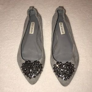 Kelsi Dagger beaded heart flats